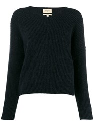 Bellerose Ribbed Knit Sweater Blue