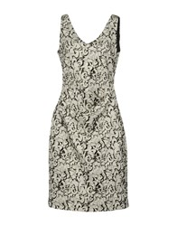 Nicole Miller Artelier Knee Length Dresses Light Grey