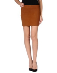 Beayukmui Mini Skirts Camel