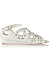 Maje Studded Leather Sandals