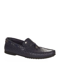 Stefano Ricci Embossed Octagon Loafer Male