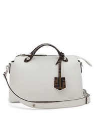 Fendi By The Way Leather Shoulder Bag White Multi