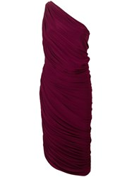 Norma Kamali Ruched Tube Cocktail Dress Red