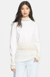 3.1 Phillip Lim Wool And Mohair Turtleneck Sweater Ivory