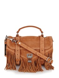 Proenza Schouler Ps1 Tiny Fringed Suede Bag