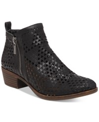 Lucky Brand Women's Perforated Basel Booties Women's Shoes Black Lugo
