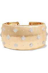 Buccellati Macri 18 Karat Yellow And White Gold Diamond Cuff