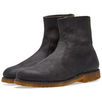 Maison Martin Margiela 22 Waxed Suede Ankle Boot Black