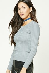 Forever 21 Ribbed Sweater Knit Top