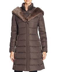 T Tahari Felicity Long Puffer Coat Legend Grey