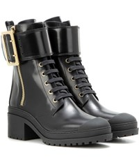 Burberry Scarcroft Leather Boots Black