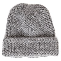 Bare Knitwear Ribbed Alpaca Hat Charcoal