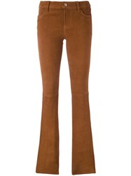 J Brand Classic Straight Trousers Brown