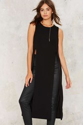 Take It Up With Me Slit Maxi Top Black