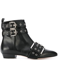 Red Valentino Buckled Ankle Boots Women Calf Leather Leather 39 Black