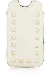 Valentino The Rockstud Leather Iphone 5 Sleeve White