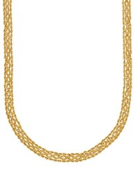 Lord And Taylor 14K Yellow Gold Popcorn Rope Chain Necklace