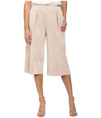 Calvin Klein Pleated Suede Culotte Latte Women's Casual Pants Brown