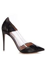 Valentino B Drape Leather Pumps Black