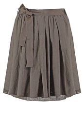 Marc O'polo Pleated Skirt Water Reed Khaki