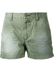 Closed Wrinkle Effect Shorts Green