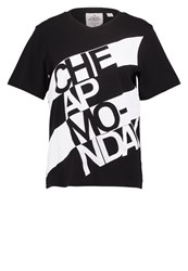 Cheap Monday Breeze Print Tshirt Black