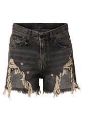 R 13 R13 Distressed Denim Shorts Gray