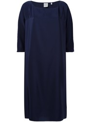Aspesi Round Neck Shift Dress Blue