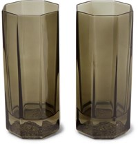 Versace Medusa Lumiere Haze Set Of Two Glass Tumblers Clear