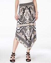 Inc International Concepts Printed Asymmetrical Maxi Skirt Only At Macy's Medley Paisley Black