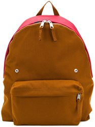 Raf Simons Colour Block Backpack Brown