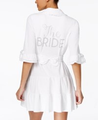 Betsey Johnson 'The Bride' Terry Robe White