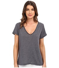 Project Social T Favorite V Slit Tee Charcoal Women's T Shirt Gray