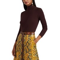 Lisa Perry Wool Cashmere Turtleneck Sweater Brown