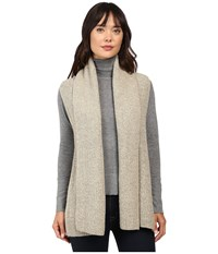 Christin Michaels Willow Knit Vest Cardigan Beige Women's Sweater