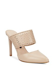 French Connection Mollie Leather Mules Almost Nude