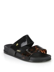 Melissa Cosmic Slide Sandals Black Beige