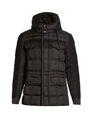 Moncler Jacob Detachable Hood Wool And Shell Down Coat Black