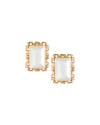 Emily And Ashley Greenbeads By Emily And Ashley Greek Key Moonstone Stud Earrings