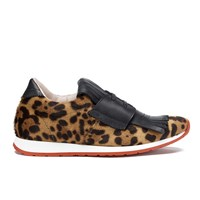 Vivienne Westwood Women's Golf Running Trainers Pony Leopard Tan