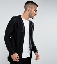 Only And Sons Open Drape Cardigan Black Grey