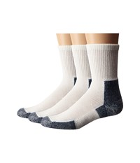 Thorlos Running Crew 3 Pair Pack White Navy Crew Cut Socks Shoes