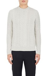 Theory Men's Cellan Wool Sweater Light Grey