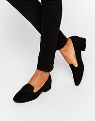 New Look Suedette Slip On Loafer Black