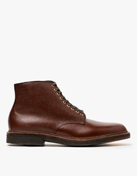 Alden Rowland Plain Toe Boot Brown Alpine