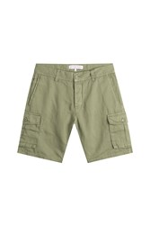 Orlebar Brown Cotton Linen Cargo Shorts Green