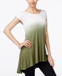 Joseph A Ombre Swing High Low Tunic Winter Moss