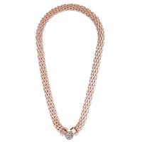 Adele Marie Rope Pave Short Necklace Rose Gold