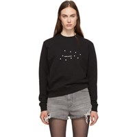 Saint Laurent Black Star Logo Sweatshirt