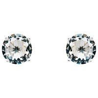 Monet Glass Crystal Stud Earrings Silver Clear